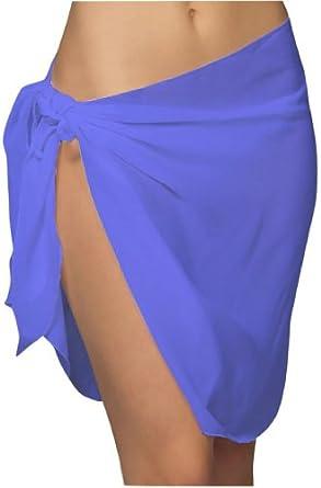 ToBeInStyle Women's Short Pareo Sheer Light Wrap for