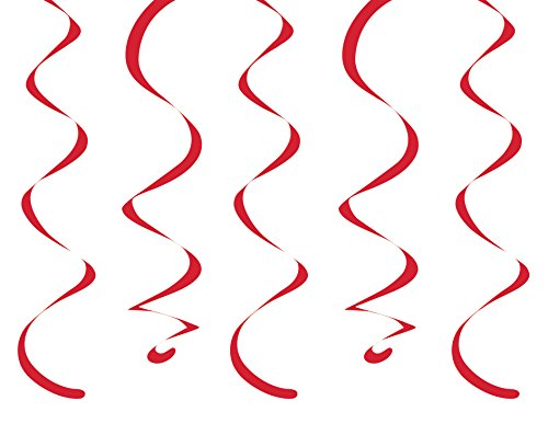 "Creative Converting 10 Count Dizzy Danglers, 18"", Classic Red"