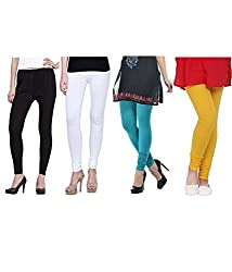 Shiva collections Black/white/turk/yellow cotton legging