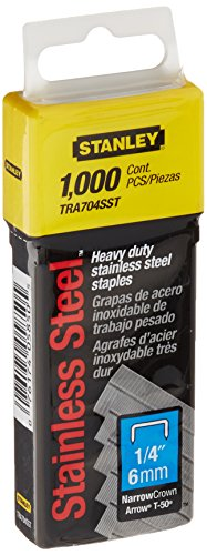 Stanley TRA704SST 1/4-Inch Heavy Duty Stainless Steel Narrow Crown Staples, 1,000-Count (Stainless Steel Heavy Duty compare prices)