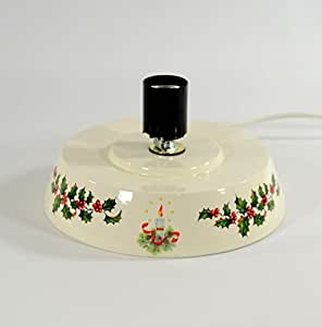 Amazon com ceramic christmas tree replacement base holly and candle