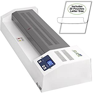 "Apache AL18P Professional Hot/Cold 18"" A3 4 Roller Thermal Laminator for Documents and Photos. Includes a 20 Pack of Standard 5 and 3 mil Laminator Pouches"