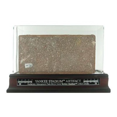 Yankee Stadium Monument Park Brick Piece w/ Acrylic Display Case - Game Used MLB Stadium Equipment