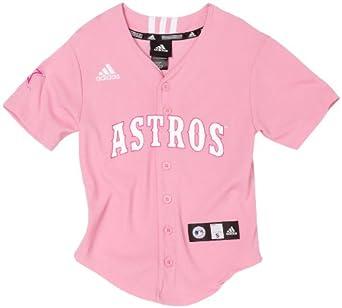 Print Baseball Jersey, Pink, Small : Sports Fan Jerseys : Clothing