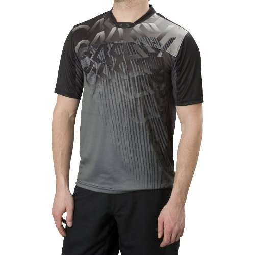 Oakley Men's Retro Fade Bike Jersey (Black, Large)