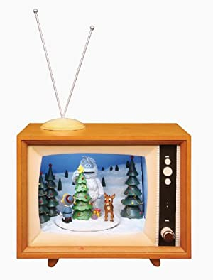 Rudolph the Red Nose Reindeer Action Musical Lighted TV Rudolph the Red