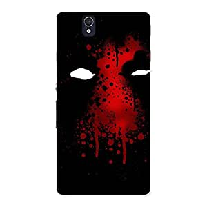 Delighted Horror Red Back Case Cover for Sony Xperia Z