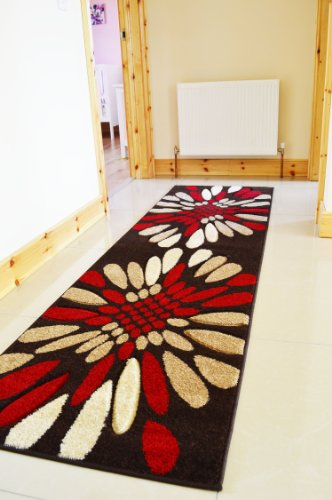 MODERN CONTEMPORARY QUALITY RUG RED /& BEIGE SIZE S-M-L XLARGE FLOOR CARPET MAT