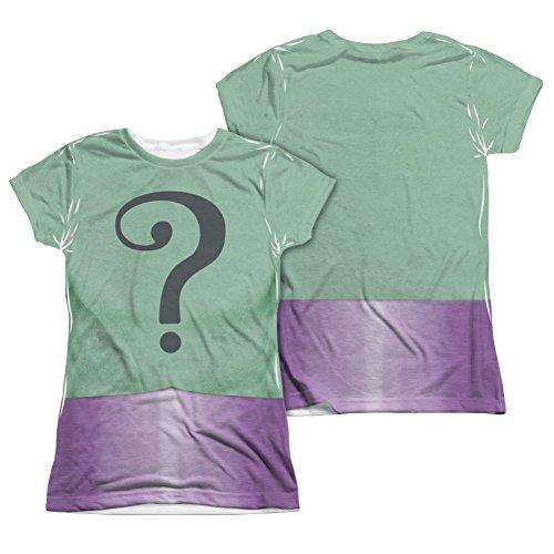 Batman Classic TV Riddler Uniform Junior Fit Front/Back T-Shirt