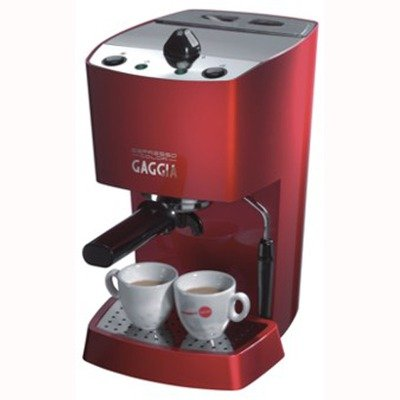 Gaggia 102534 Espresso-Color Semi-Automatic Espresso Machine, Red