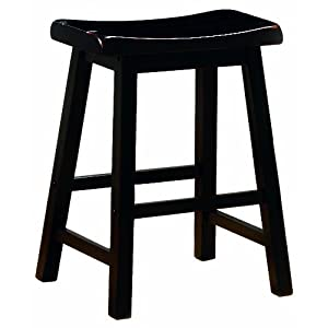 Coaster 29-Inch Dining Barstool, Black Set of 2