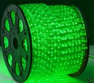 green 2 wire led rope light decorative bar home christmas lighting