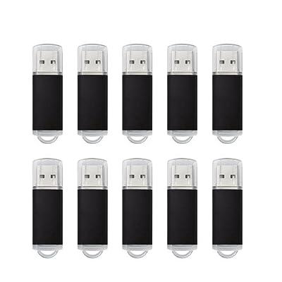 Joiot(TM) 10pcs 2GB USB 2.0 Thumb Flash Drive Memory Stick USB Storage(Bulk, Black)