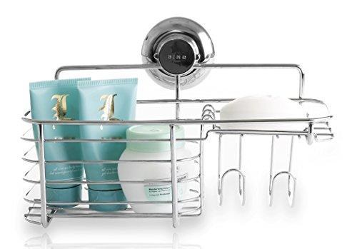 bino-smartsuction-chrome-shower-caddy-combo-basket