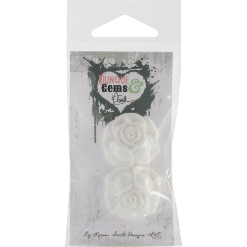 Junque & Gems résine fleurs 2/Pkg-crème chou Rose
