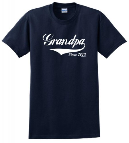 Grandpa Since 2013 T-Shirt 2Xl Navy front-218348
