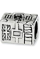 Reflections Sterling Silver Suitcase Bead / Charm