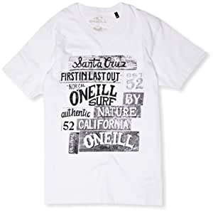 O'Neill Carver T-Shirt manches courtes homme Super White FR : 42 (Taille Fabricant : L)