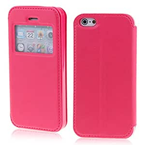 Rose View Window Wallet Leather Flip Folio Magnetic Skin Tpu Case Cover Card Slot for Apple Iphone 5 5s