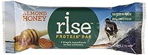 RiseBar Protein Almond Honey,  2.1 oz. Bars, 12-Count