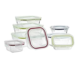 Komax OvenGlass Oven Safe Glass Storage Containers Set, 16pc Set, Assorted