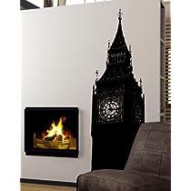Vinyl Wall Art Decal Sticker Big Ben Clock U.K. England 72
