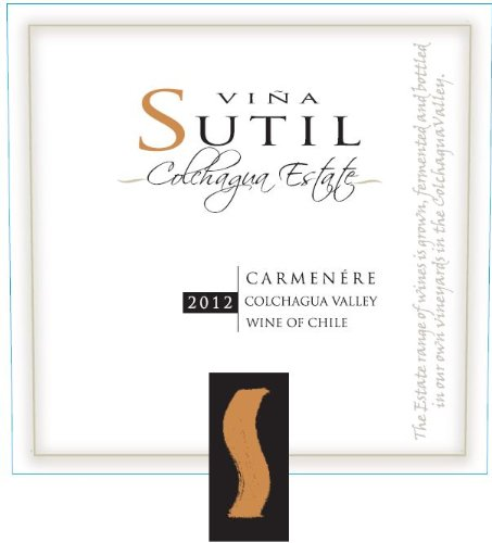 2012 Vina Sutil Estate Carmenere 750 Ml