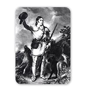 Colonel Davy Crockett, engraved by Charles.. - Mouse Mat Art247 Highest Quality Natural Rubber Mouse Mats - Mouse Mat