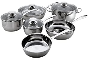Berndes Cucinare Stainless Induction 10-Piece Cookware Set