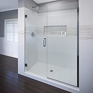 Basco celesta 58 1 16 59 glass shower door and panel 3 8 clear glass with shower glass - Shower glass protection ...