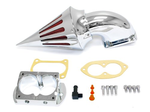 2002-2009 Kawasaki 1500/1600 Fuel Injected Vulcan Meanstreak Cruiser High Quality Chrome Billet Aluminum Cone Spike Air Cleaner Kit Intake Filter Motorcycle