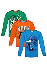 Punkster Graphic Print T-Shirts Combo For Boys