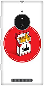 The Racoon Grip YOLO hard plastic printed back case / cover for Nokia Lumia 830