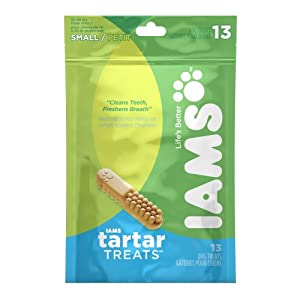 Iams Tartar Treats for Small Dogs, 13-Count Pouches (Pack of 2)