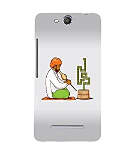 EPICCASE Snake charmers Mobile Back Case Cover For Micromax Canvas Juice 3 Q392 (Designer Case)