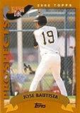 2002 Topps Traded Baseball #T180 Jose Bautista Rookie Card
