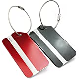 2 Colors Aluminium Metal Travel Luggage Bag Name Address Holder Label Tag New