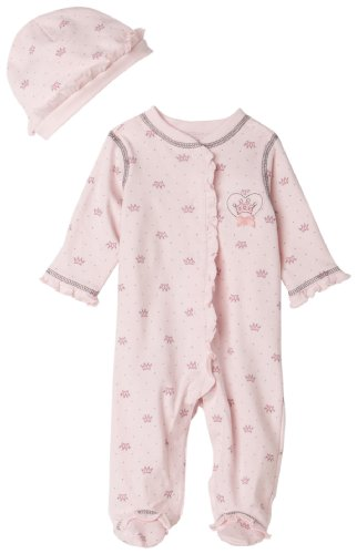 Little Me Little Princess Footie Pink Multi 6 Months