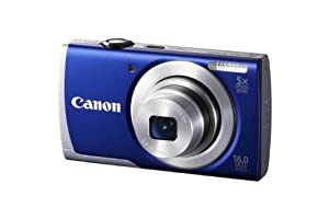 Canon Powershot A2600 16 MP Digital Camera with 5x Optical Zoom and 3-Inch LCD Display, 8160B005 (Blue)