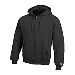 Champion Double Dry Action Fleece Full Zip Hood - X-Large, Black