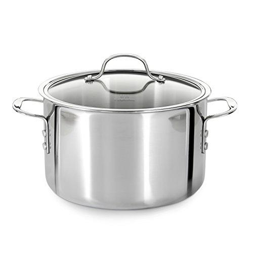 Calphalon Tri-Ply Stainless Steel 8-Quart Stock Pot with Cover (Calphalon 8 Stainless Steel compare prices)