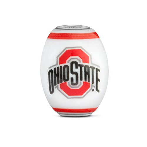 Ohio State Buckeyes Large Glass Bead Fits Most European Style Bracelets