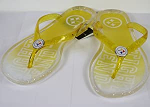 Pittsburgh Steelers Womens Slogan Jelly Flip Flop Slippers