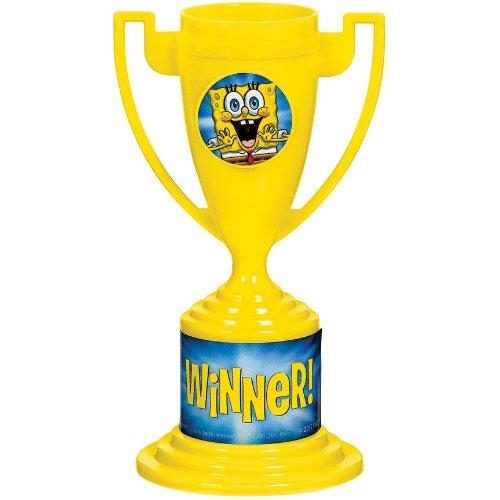"Amscan Superb SpongeBob Birthday Party Trophy Cups Favor (8 Piece), 5"" x 3"", Yellow"