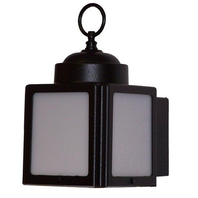 Kiss Series 1 Light Outdoor Wall Lighting Finish: White