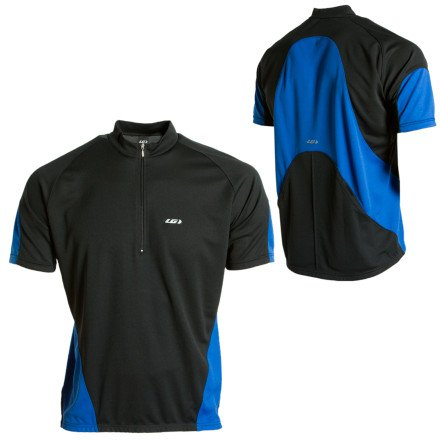 Buy Low Price Louis Garneau 2008 Wave Short Sleeve Cycling Jersey – Black – 1020335-020 (B000JTEW24)