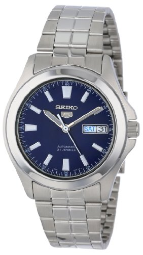 Seiko Men's SNKL07 Seiko 5 Automatic Stainless Steel Watch with Blue Dial (Seiko Watches Blue Dial compare prices)