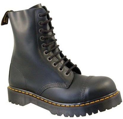 Dr.Martens 8761 Steel Toe Black Leather Mens Boots Size 10