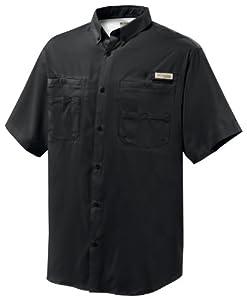 Columbia Men's Tamiami II Short Sleeve Fishing Shirt (Black, Large)