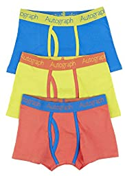 3 Pack Autograph Cotton Rich Contrast Trim Trunks